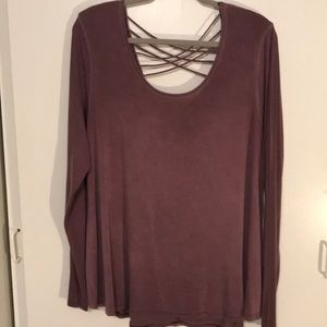 Love Light plum blouse